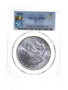 MS67 1886 Morgan Silver Dollar - Sight White - Graded PCGS *5394