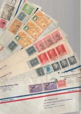 Latin Caribbean 7 Postal History Covers used 1950's Commemorative Stamps +