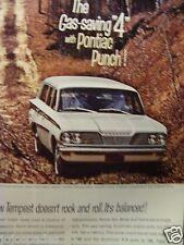 "1962 Pontiac Tempest Safari Station Wagon Original Print Ad 8.5 x 11"""
