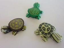 3 x Handmade Polymer Clay Turtle Beads / Pendants for Craft Making & Jewellery