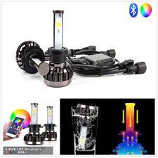 2X Car H7 RGB Multi-Color Changing LED Headlight Kit Phone APP Controller Light