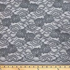 Stretch Lace Fabric Floral Embroidery Poly Spandex 58