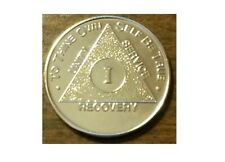 Recovery coin Aa 2 Year Gold Plate Medallion token sobriety affirmation bday