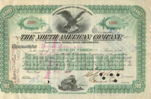 The North American Company 1890 New York New Jersey stock certificate