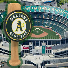 Oakland Athletics themed Baseball Bat beer tap handle