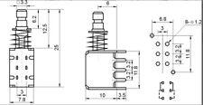 DPDT bouton poussoir PCB latching push button 2pcs