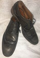 John Varvatos Shoe Gray Leather Lace Up Wing Tip  Size 8