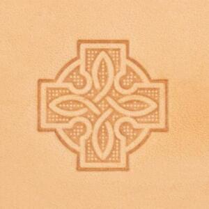 Ivan 3D Leather Stamp - Celtic Cross (b) (8606-00)