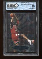 Michael Jordan 1996-97 Fleer Metal #241 Shredders Chicago Bulls GEM MINT 10