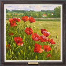 """Hand-painted Original Oil painting art knife flower On Canvas 24""""x24"""""""
