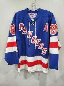 Rare VTG CCM NHL New York Rangers Eric Lindros 88 Lacer Hockey Jersey Mens S
