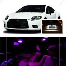For Mitsubishi Eclipse 2006-2012 Pink LED Interior Kit + White License Light LED