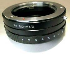 Minolta MD Lens mount adapter to M4/3 GH3 GH4 Panasonic E-PL2 OM-D camera TILT