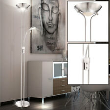 LED Decken Fluter Steh Lese Dimmer Diele Stand Lampe Wohnzimmer Leuchte DIMMBAR