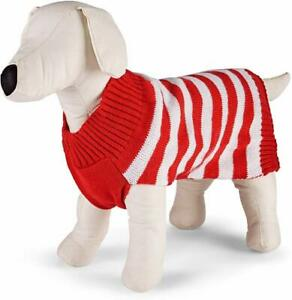 Family PJs Matching Pet Sweater (Red Holiday, Small)