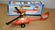 POLICE FIRE PATROL TIN METAL TOY FRICTION HELICOPTER GERMANY GDR Fire #2