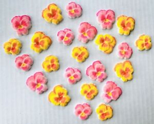 24 Edible Pansy Cupcake Toppers Decorations Party Cake Party Pansies Mothers Day
