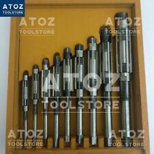 ZOLLFREI Satz 9x Verstellbare Reibahlen Räumahle Ahle 11.9mm - 30.10mm + HOLZBOX