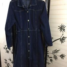 Xhilaration Girls Denim Long Sleeve Coat Dress Fitted Size XL Bust 42 Waist 34