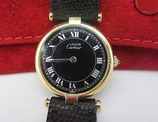 Must De Cartier Vermeil Ladies Watch 18K Gold Over Silver Just Serviced