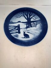 Royal Copenhagen Hare in Winter Collector Christmas Plate 1971