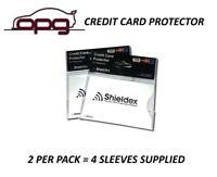 RFID Blocking Shieldex Credit Card Protector Sleeve Anti Theft Scan Safe X 4