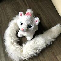 "Disney Parks Aristocats Marie White Cat Plush W 50"" Long Tail"