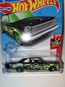 Hot Wheels 65 Ford Galaxy Green Hw Flames