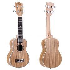 """ammoon Professional Zebrawood 21"""" Acoustic Ukulele 15 Fret 4 Strings P1H7"""