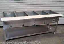 New 5 Well Lp Propane Steam Table Duke AeroHot Wb305-Lp Water Bath Nsf #5943