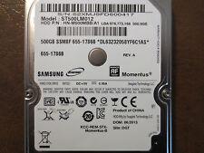 """Samsung ST500LM012 HN-M500MBB/A1 REV.A DGT Apple#655-1786B 2.5"""" 500gb Sata HDD"""