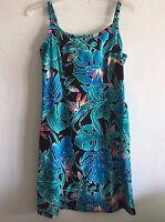 Hilo Hattie Hawaiian Dress Sleeveless Cotton Island Floral Women's Size 6