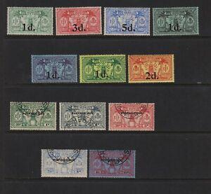 British New Hebrides - Postage Dues + 1920s surcharges, cat. $ 42.50