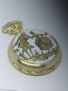 Vintage Lucien Piccard Swiss 17 Jewels Pocket Watch! 9.5/10 condition!
