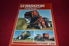 Hesston 5580 5540 5510 5530 Round Baler & Bale Movers Dealer's Brochure YABE