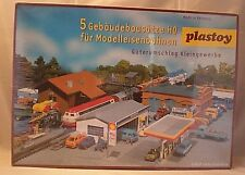 Vintage Plastic HO Building - Plastoy 5 Piece Commercial Box Set in Sealed Box