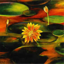 GOLDEN LILY FLOWER PAINTING  FINE ART PRINT
