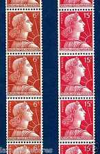 MARIANNE de MULLER 6F & 15F en Roulettes de 11 timbres!