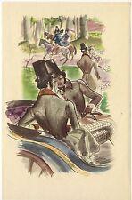 ILLUSTRATION de G. BARRET - La fausse maitresse - H. de Balzac - 1949.