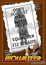 Equalizer TV Series FAN MADE 11 X 17 poster print #2 EDWARD WOODWARD
