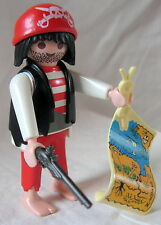 Playmobil Red Corsair Pirate with Gun and Treasure Map - extremely RARE - #4558