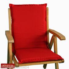 Auflagen für Niedriglehner Sessel Stapelsessel Stuhl niedrig in rot 107 cm lang