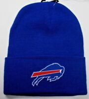 READ LISTING! Buffalo Bills HEAT Applied Flat Logo on Beanie Knit Cap hat