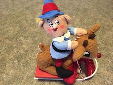RUDOLPH Reindeer & HERMEY The Dentist Misfits Plush on Sled Christmas HTF