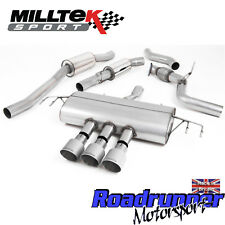 "Milltek Civic Type R FK8 Cat Back Exhaust 3"" Resonated Titanium GT SSXHO242 EC"