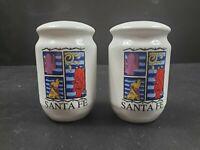 "Santa Fe New Mexico Vintage Souvenir 3 1/2"" Salt & Pepper Shakers"
