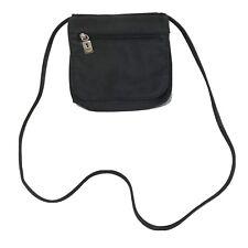 FOSSIL Vintage Key Hole Black Canvas Front Flap Crossbody Handbag #75082 Women