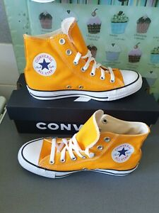 ** NEW ** UNISEX ORANGE CONVERSE ALL STAR HIGH TOPS Size 6