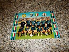CARTOLINA GIGANTE(30X21cm)INTER 1964 1965 CAMPIONE D'EUROPA E DEL MONDO ed.MUZIO