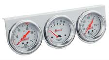 "Summit Gauge Kit Analog Console 2 5/8"" Water Temperature Oil PSI Voltmeter"